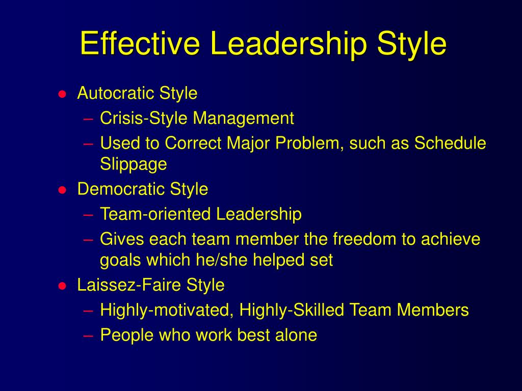 Effective Leadership Style