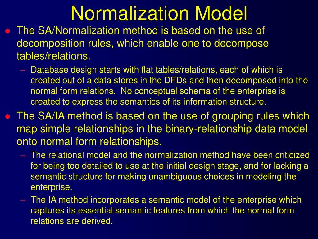 Normalization Model