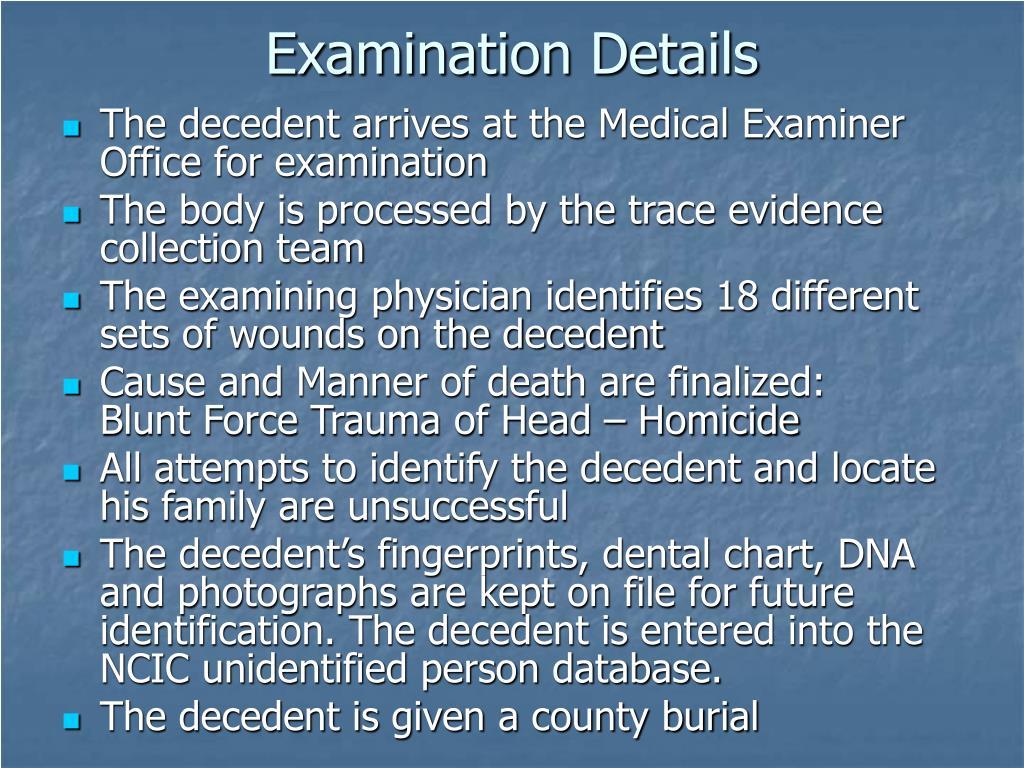 Examination Details