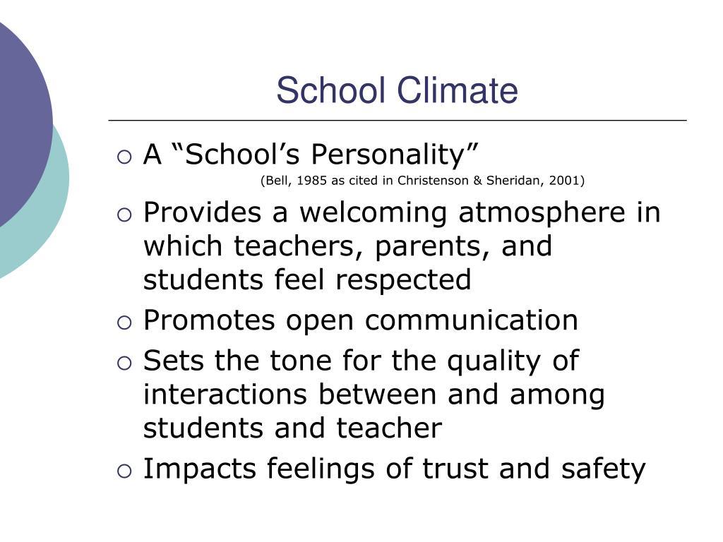 School Cimate Surveys