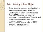 fair housing is your right