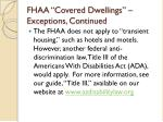 fhaa covered dwellings exceptions continued7