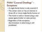 fhaa covered dwellings exceptions