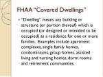 fhaa covered dwellings