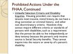 prohibited actions under the fhaa continued12