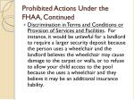 prohibited actions under the fhaa continued13