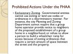 prohibited actions under the fhaa16