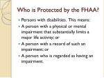 who is protected by the fhaa