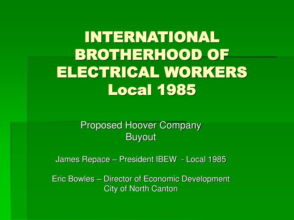 international brotherhood of electrical workers local 1985