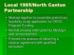 local 1985 north canton partnership