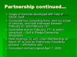 partnership continued