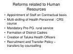 reforms related to human resources