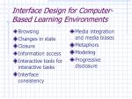 interface design for computer based learning environments