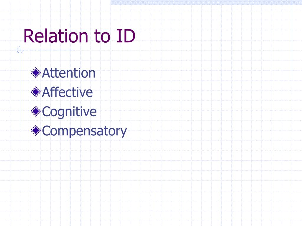 Relation to ID