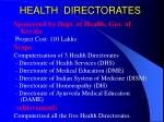 health directorates