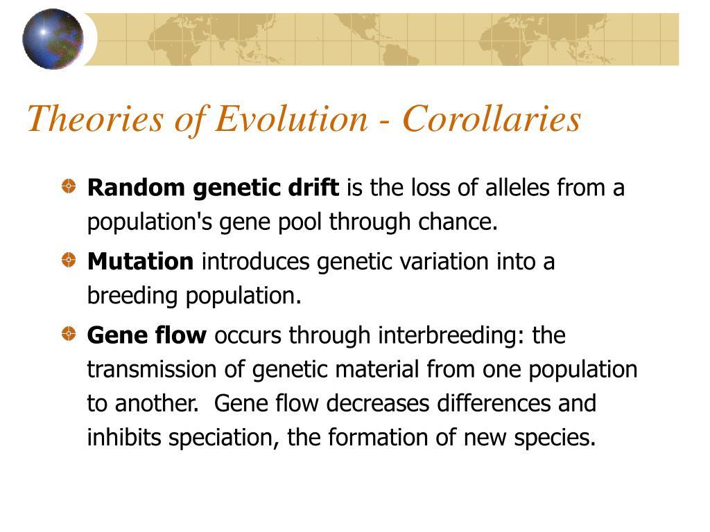 Theories of Evolution - Corollaries