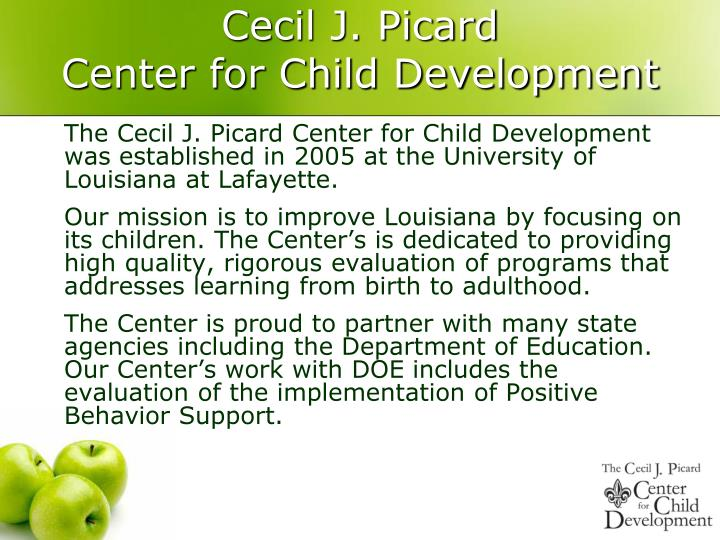 Cecil j picard center for child development
