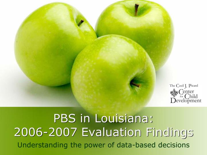 Pbs in louisiana 2006 2007 evaluation findings