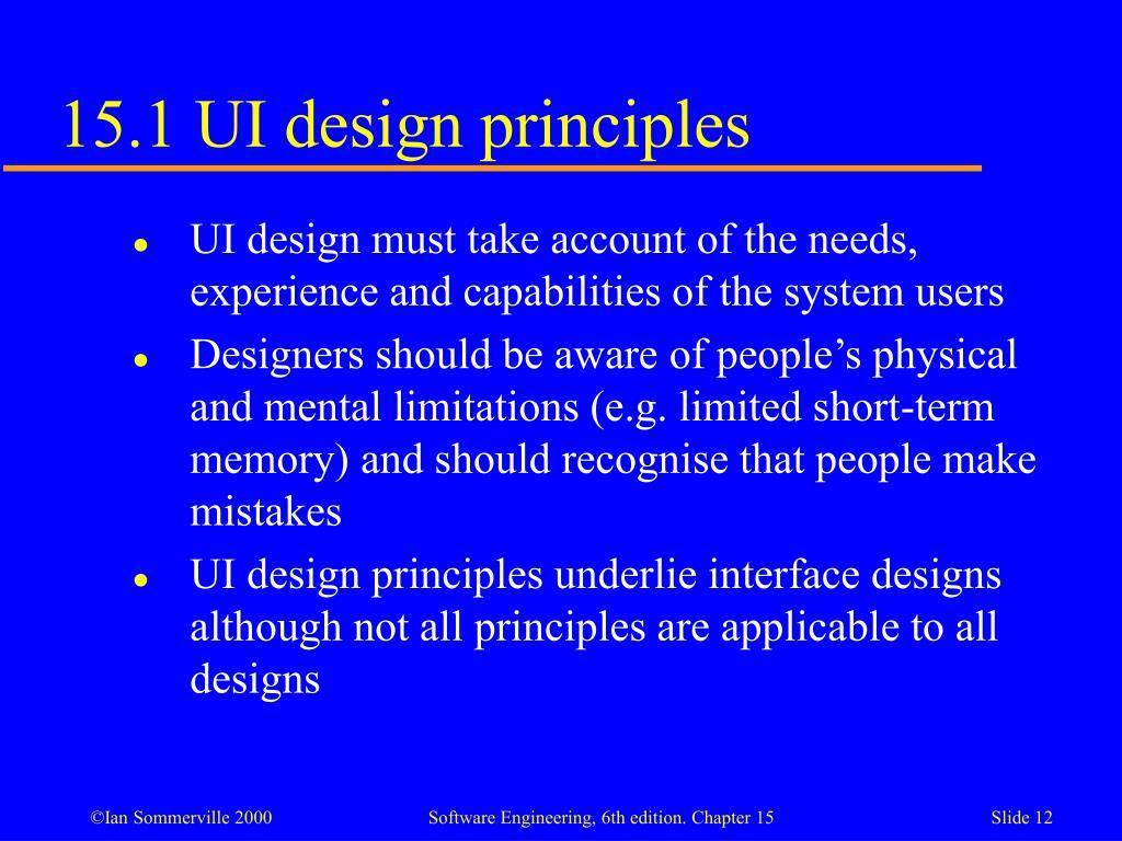 15.1 UI design principles