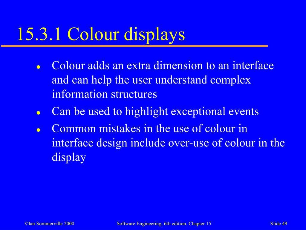 15.3.1 Colour displays