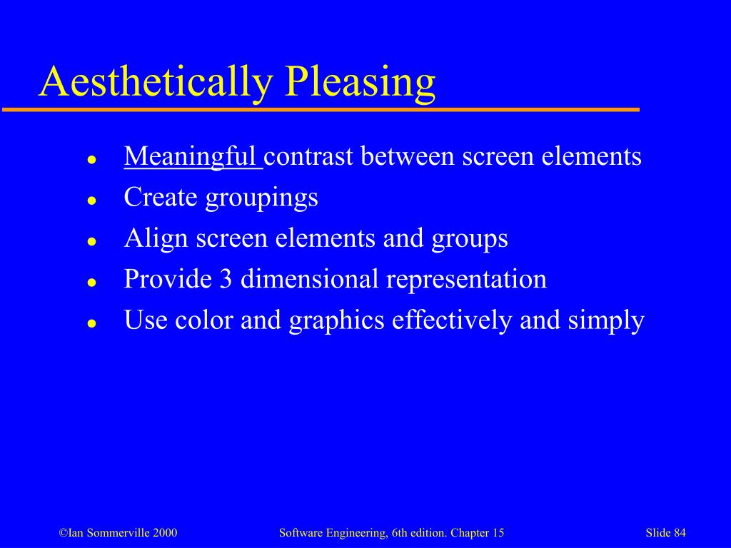 Aesthetically Pleasing