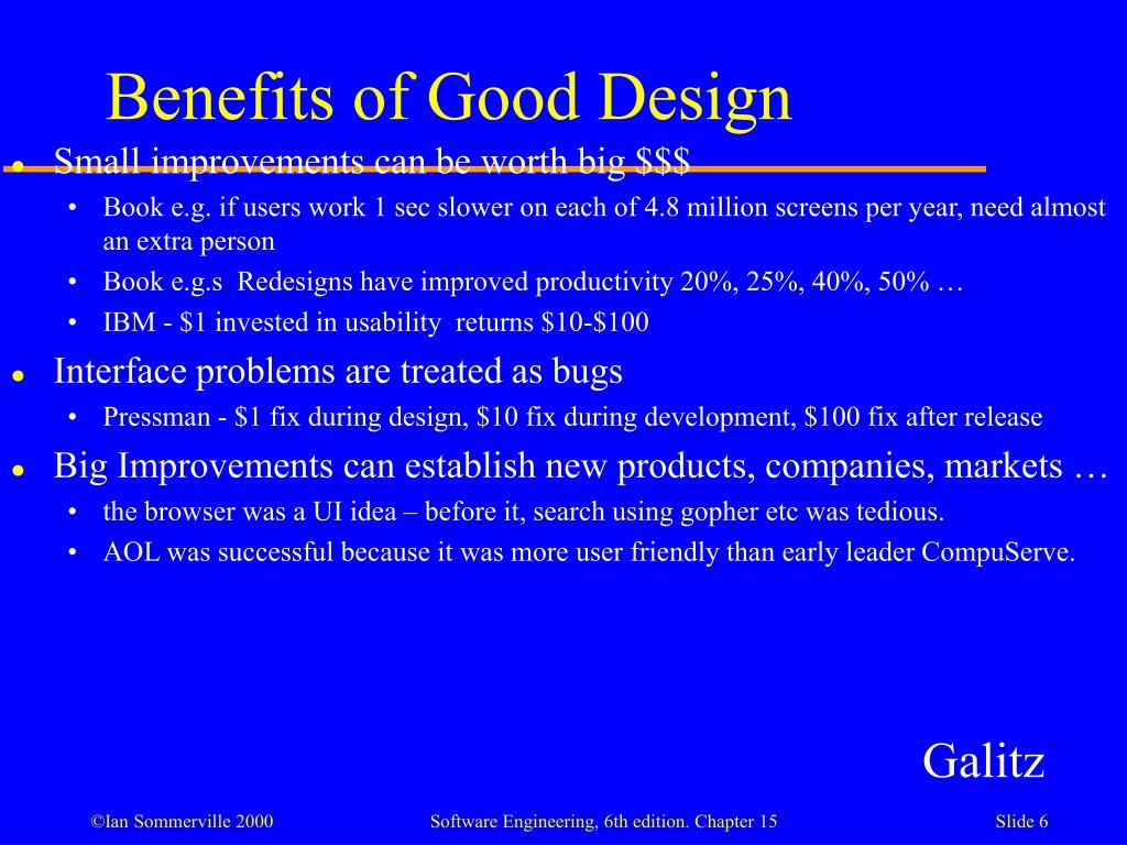 Benefits of Good Design