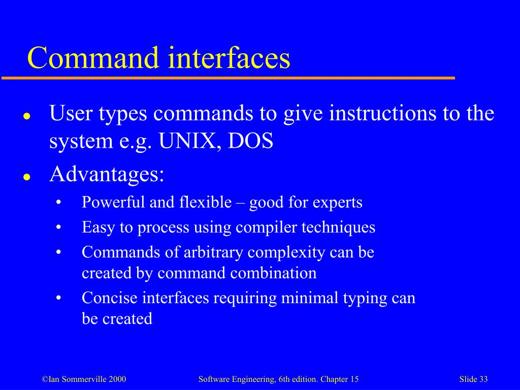Command interfaces