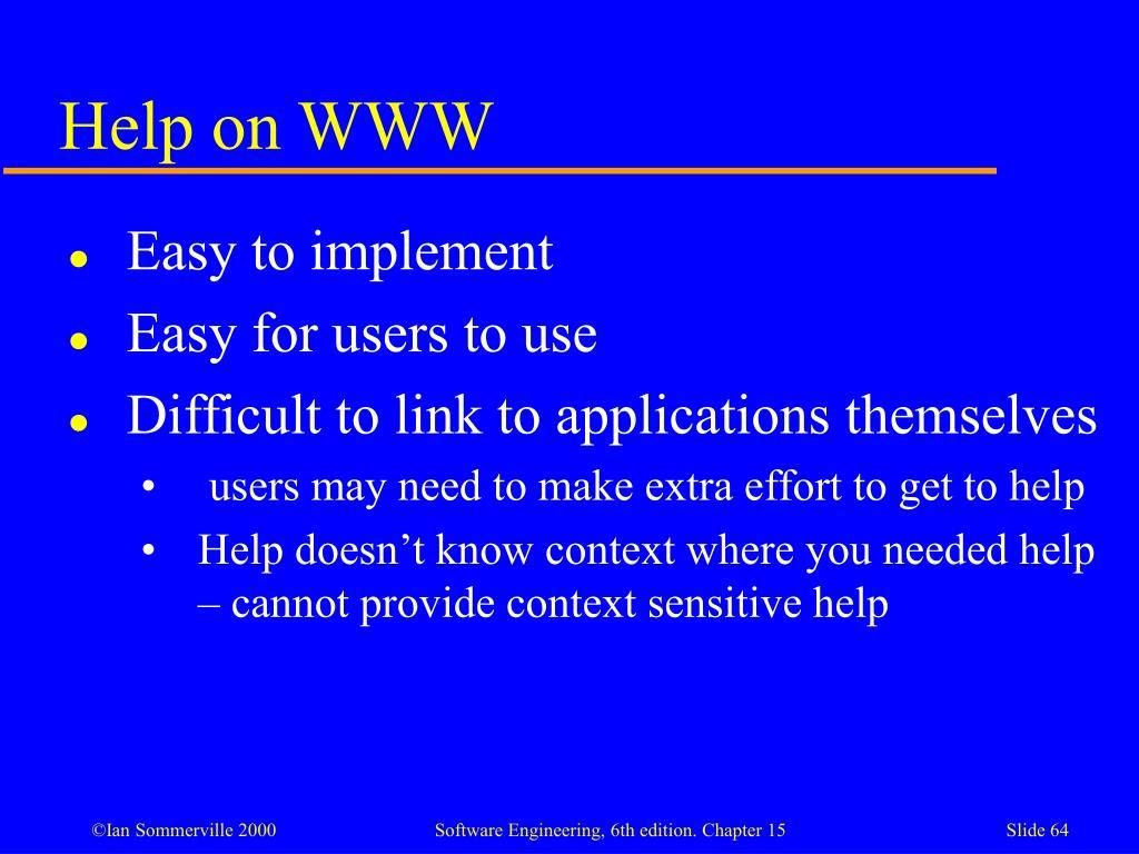 Help on WWW