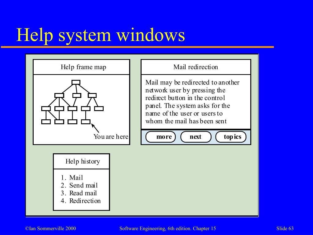 Help system windows