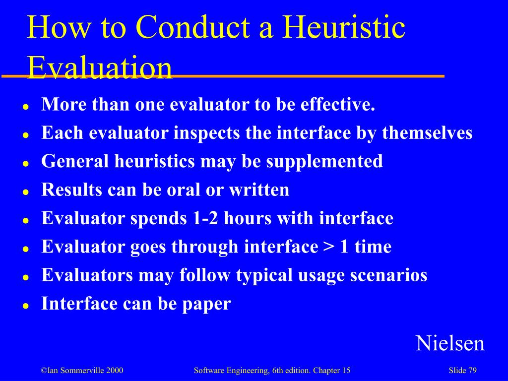 How to Conduct a Heuristic Evaluation