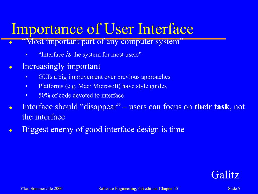 Importance of User Interface