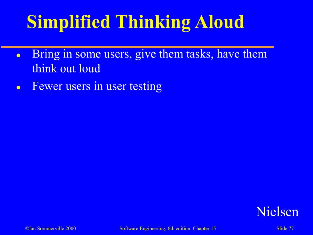 Simplified Thinking Aloud