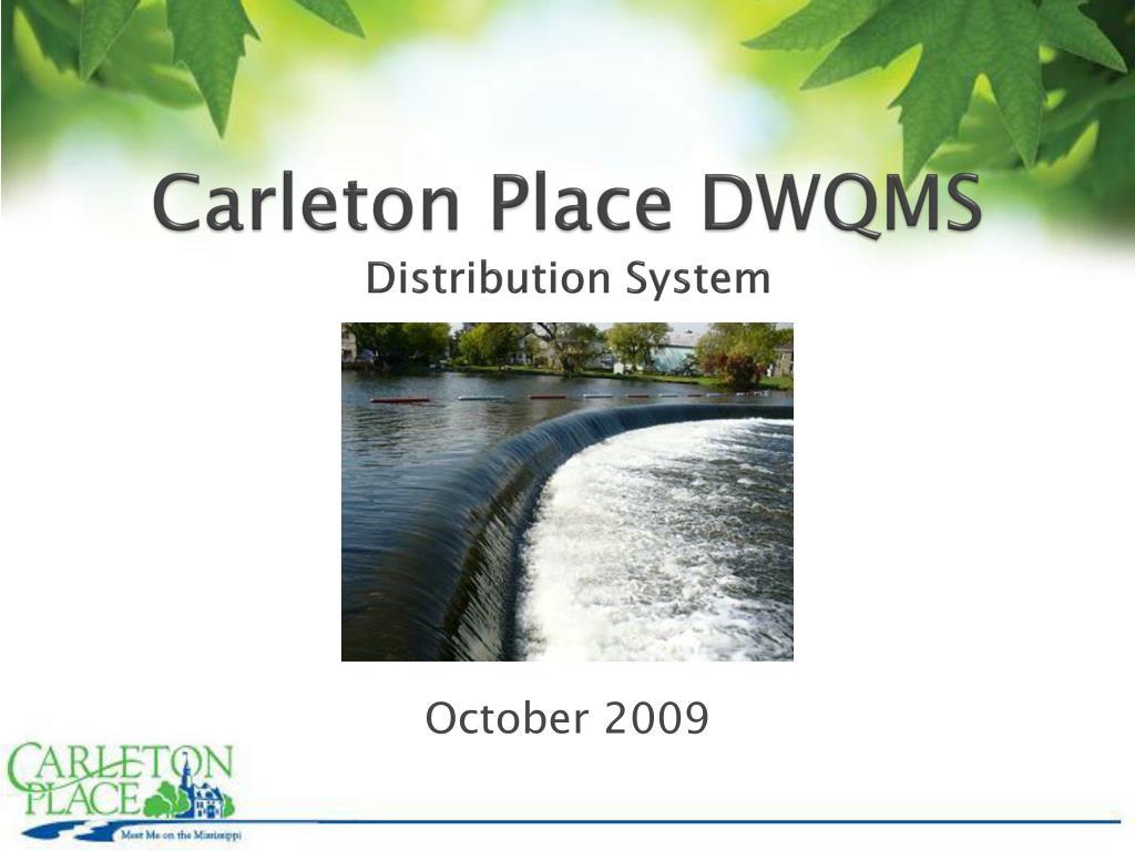 carleton place dwqms distribution system