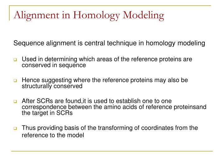Alignment in Homology Modeling