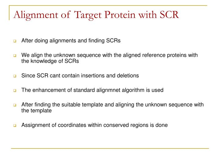 Alignment of Target Protein with SCR