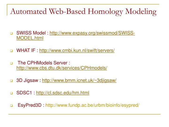 Automated Web-Based Homology Modeling