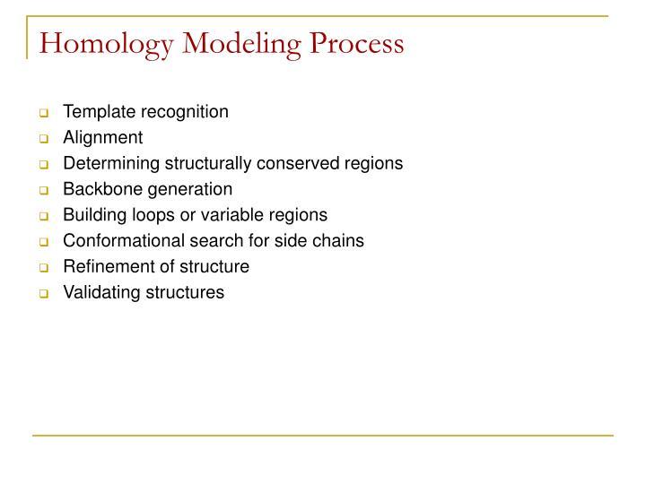 Homology Modeling Process