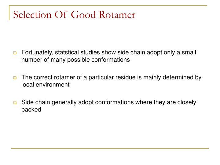 Selection Of Good Rotamer
