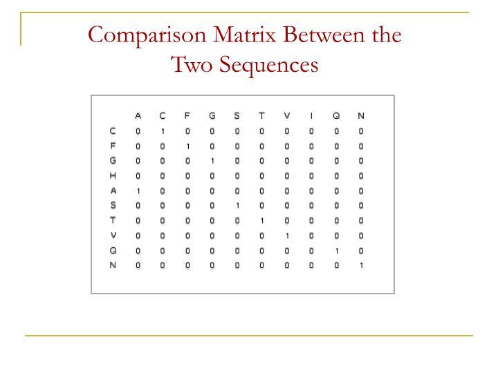 Comparison Matrix Between the
