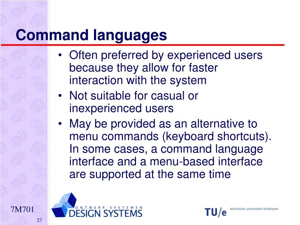 Command languages