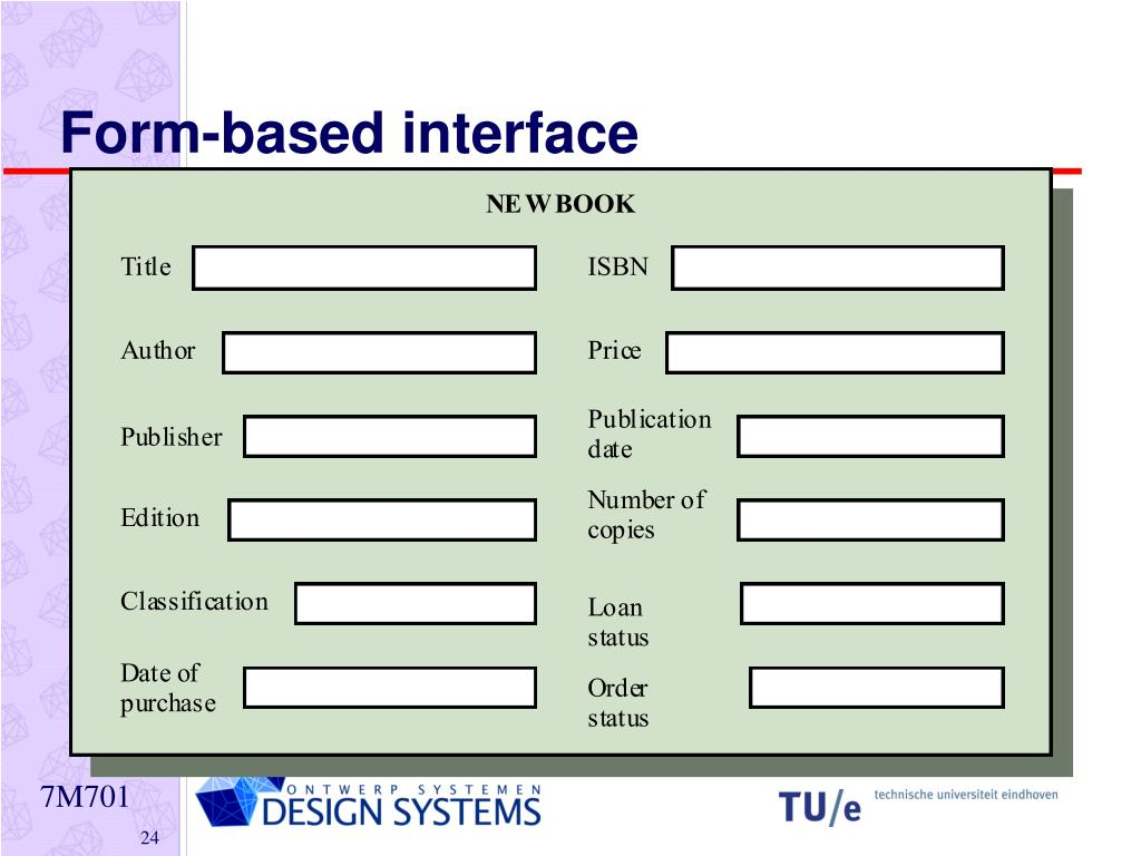 Form-based interface