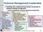 technical management leadership