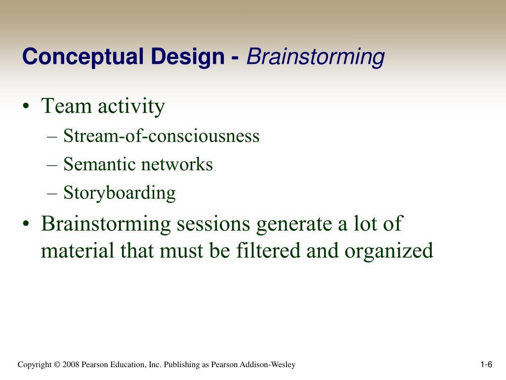 Conceptual Design -