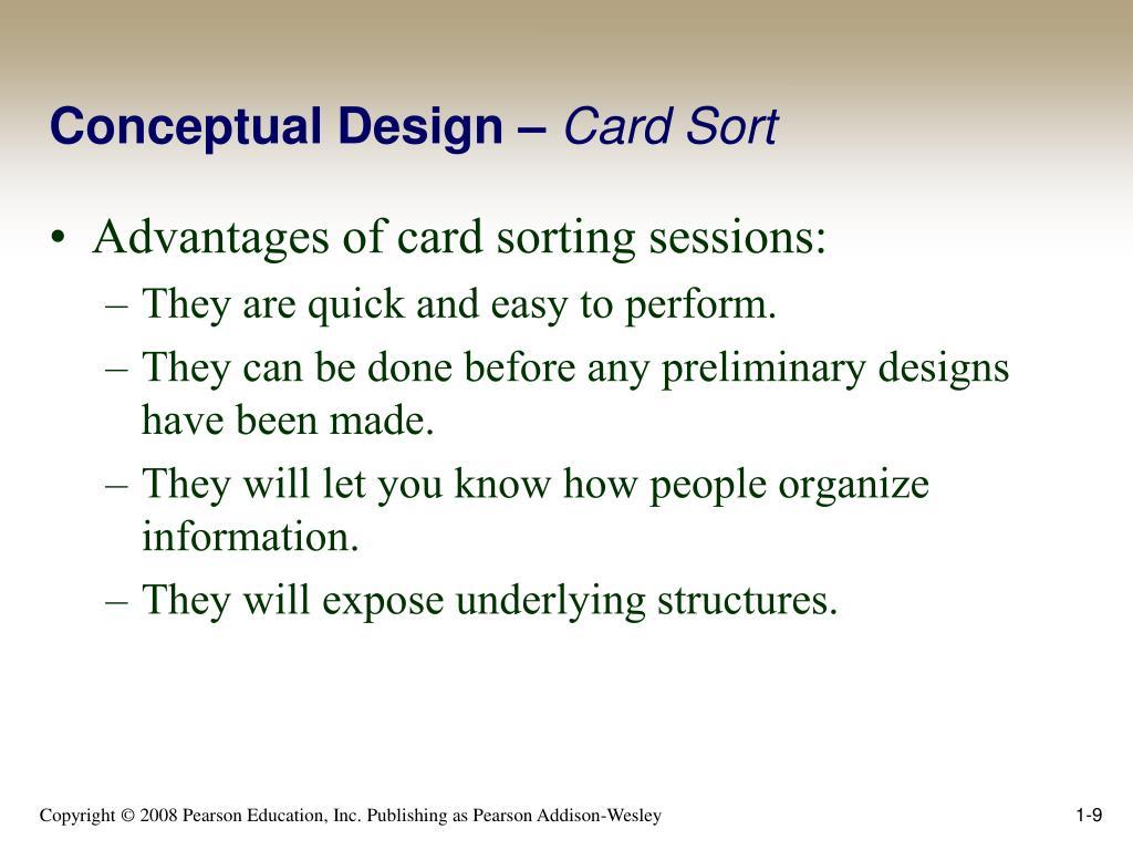 Conceptual Design –