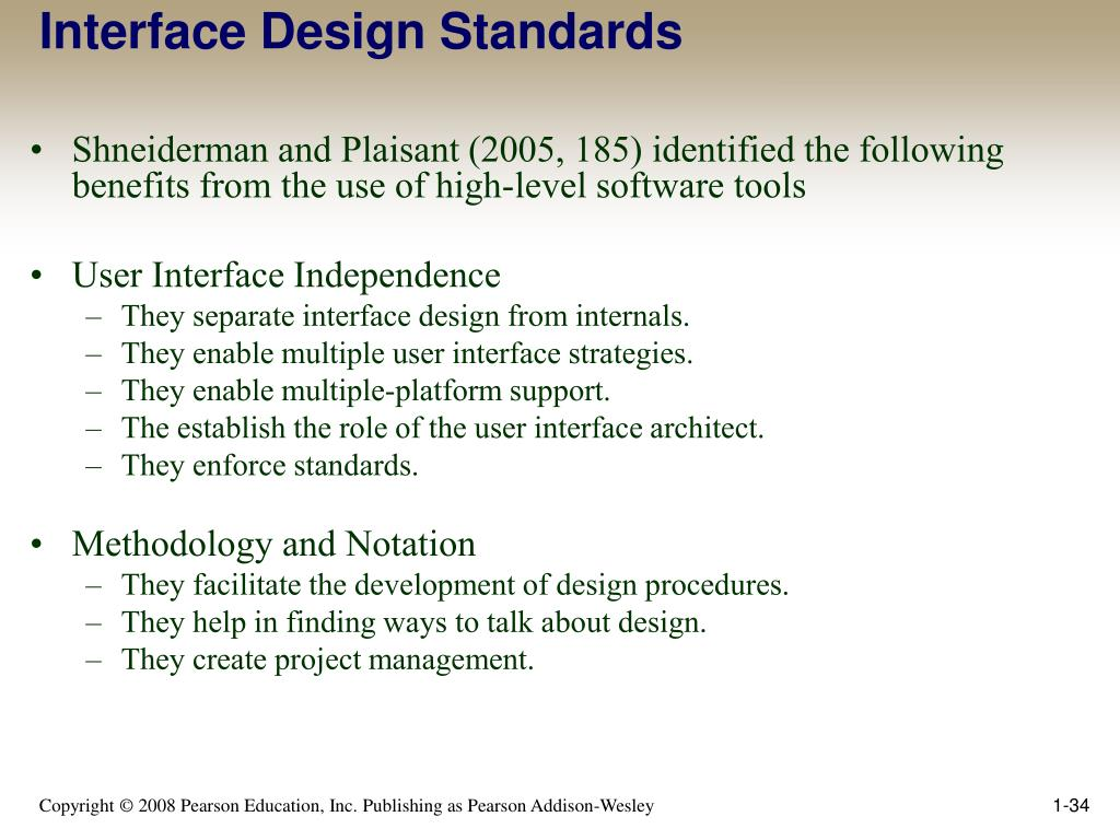 Interface Design Standards