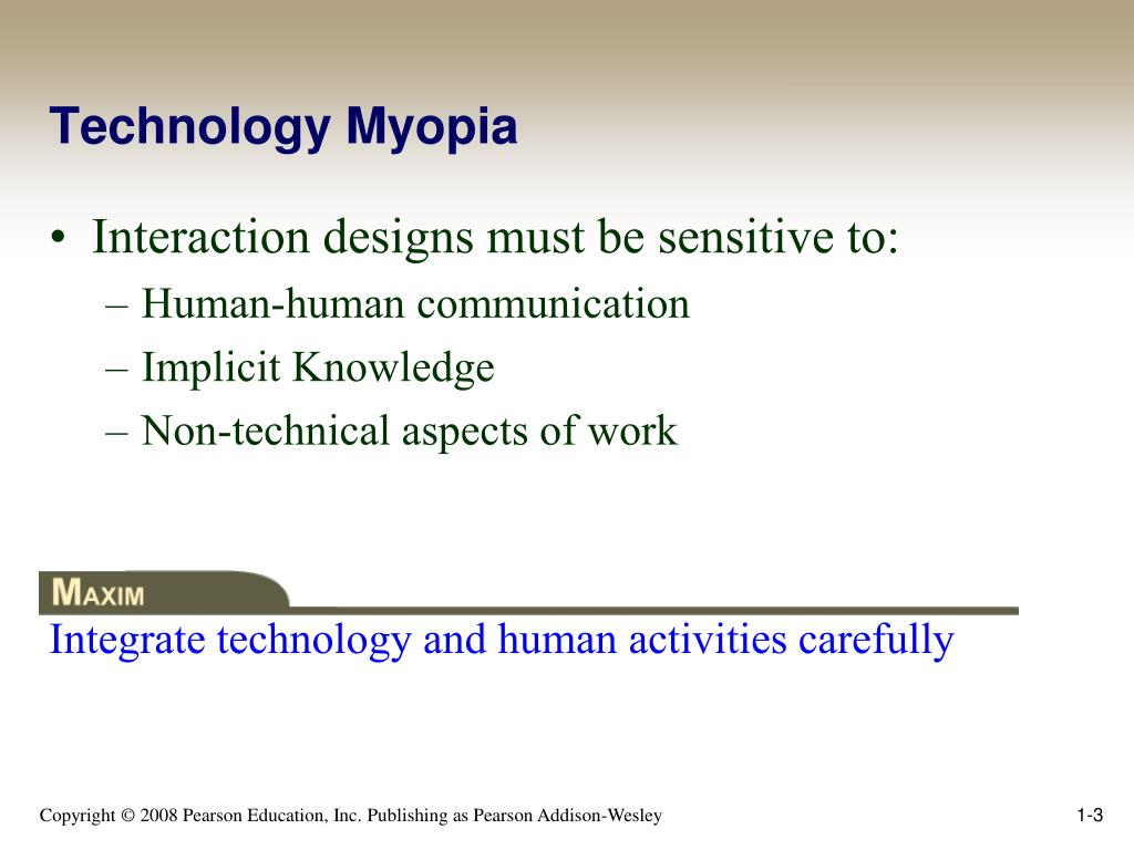 Technology Myopia