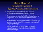 matrix model of outpatient treatment