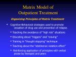 matrix model of outpatient treatment116