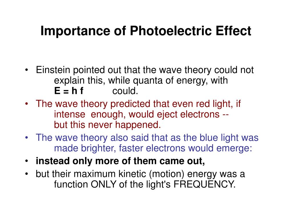 Importance of Photoelectric Effect