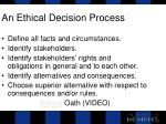 an ethical decision process